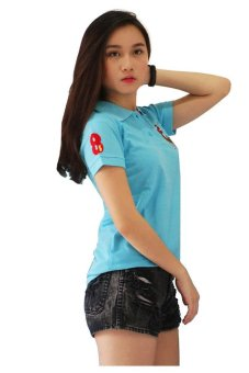 QuincyLabel Women Polo Shirt Golf - Biru Turkis