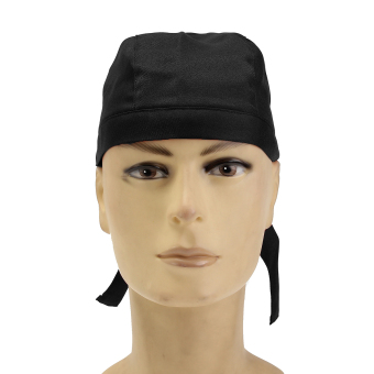 Harga Pirate Skull Cap Chef Hat Professional Catering Various Colourful Waiter Chef Black - intl