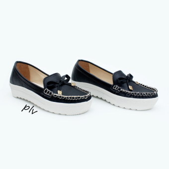 Harga Own Works JR Slip On Ribbon - Hitam