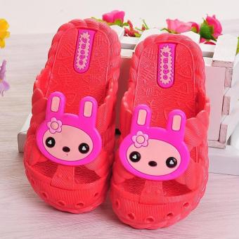 Harga Boys and girls slippers comfortable soft summer cartoon children slippers - red - intl