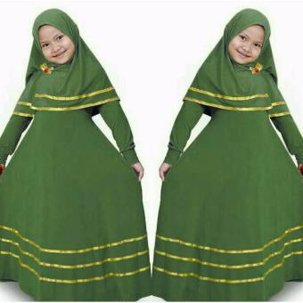 Harga Suki Dress Hijab Anak Naura - Green