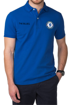 QuincyLabel Polo Soccer Shirt The Blues chelsea-Blue