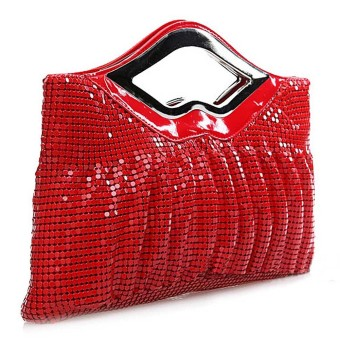 Harga Big Bag Fold Aluminium Sequins Female Bag Dinner Handbag Red