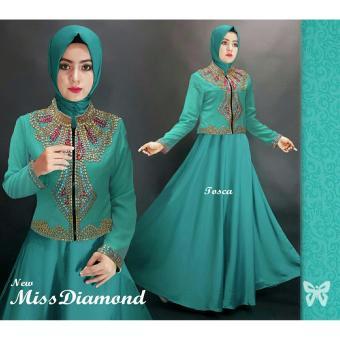 Hasanah Maxi Blazer Miss Diamond - Tosca - Dress Cardi