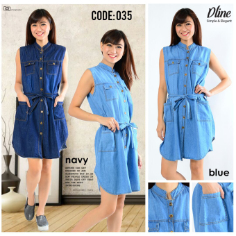 Harga Dline Jeans Dress U Can See-Biru Navy