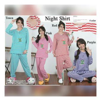 Cari Harga 168 Collection Stelan Baju Tidur Sleep Night Atasan Source · SB Collection Stelan Baju Tidur Four Stripe Piyama Pink