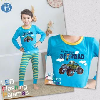 Harga GW143B - GW Flashing Pyjamas Boy My Dad Likes Off Road with LED