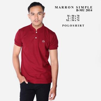 bajuku murah polo shirt maroon simple