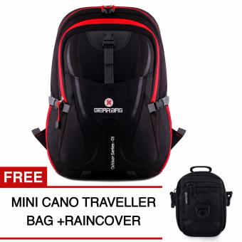 Harga Gear Bag - Scorpion X87 Backpack - Black Red + Raincover + FREE Mini Cano Traveller