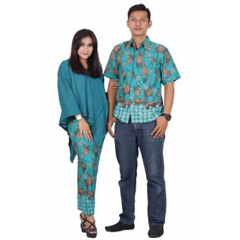 Batik putri ayu batik couple dress katun premium srd201 [Hijau]