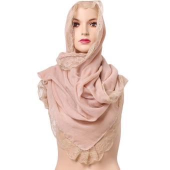 LALANG Women Muslim Voile Hijab Islamic Headwear Scarf Arab Shawls Headscarf Beige