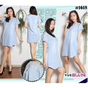 Harga Dline Dress Cutting Hand With Two Pocket Trendy C1618