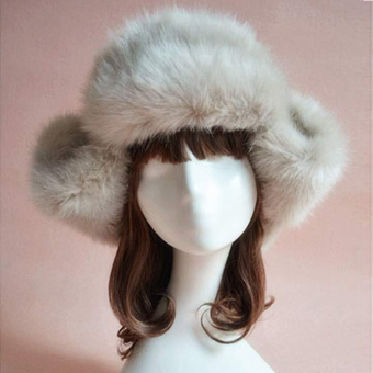 Harga Azone Faux Fur Hat Cap For Winter Fuzzy Cap (Khaki) - Intl