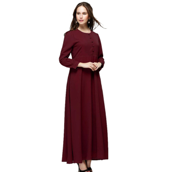 Harga Ayako Fashion Dress Maxi Long Sleeves Lucia - AY (Maroon)
