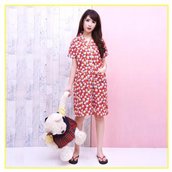 Harga Pink Bunny Label Hello Kitty Daster - Merah