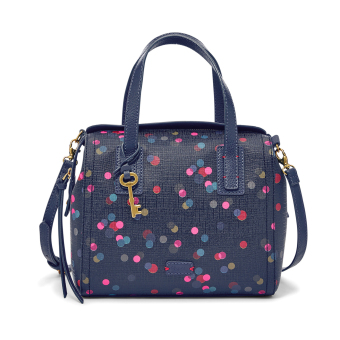 Harga Fossil Emma Satchel ZB6907400 Dot Navy - Multicolor