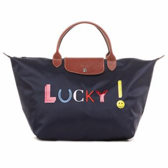 Harga Longchamp Le Pliage Lucky Medium Short Handle (MSH) - Navy