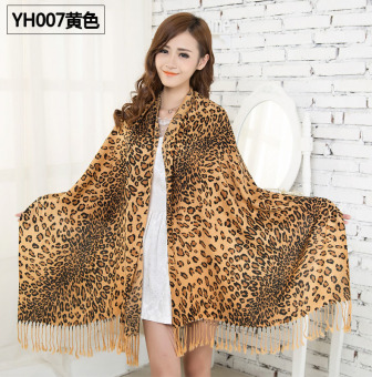 Harga Top Cotton Scarf Autumn Winter Warm Scarf Fashion Leopard Long Women Shawls Scarves - intl