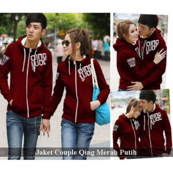 Grosir Jaket Couple - Jaket Couple Online - Jaket Couple Qing Merah Putih
