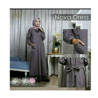 Harga Premierfashionstore Maxi Dress Nova - Darkgrey