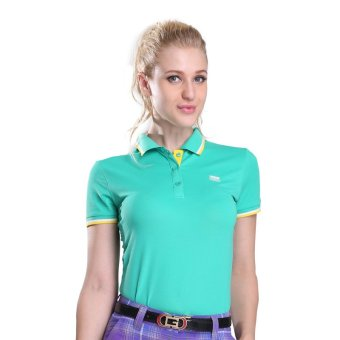 Outdoor Ladies' Golf Polo Short T-shirt(Lake Blue) - Intl