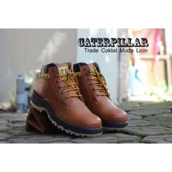 Harga Sepatu Caterpillar Safety Boots Trade Brown Licin