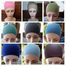 Inner Hijab ciput rajut anti pusing _ Isi 6Pcs (bebas pilih warna).
