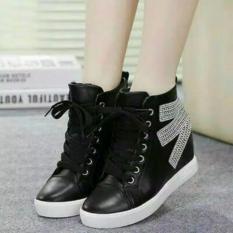 IRNISHOP Sepatu Wanita Boots Pasir Hitam