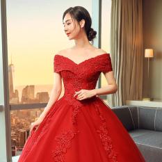 ... Kaki Celana Pengemis Flanging Bunga Bordir Jins Ramping Wanita Yang Tipis. Source · Istana Merah Baru Musim Gugur Berekor Panjang Gaun Pengantin Gaun ...