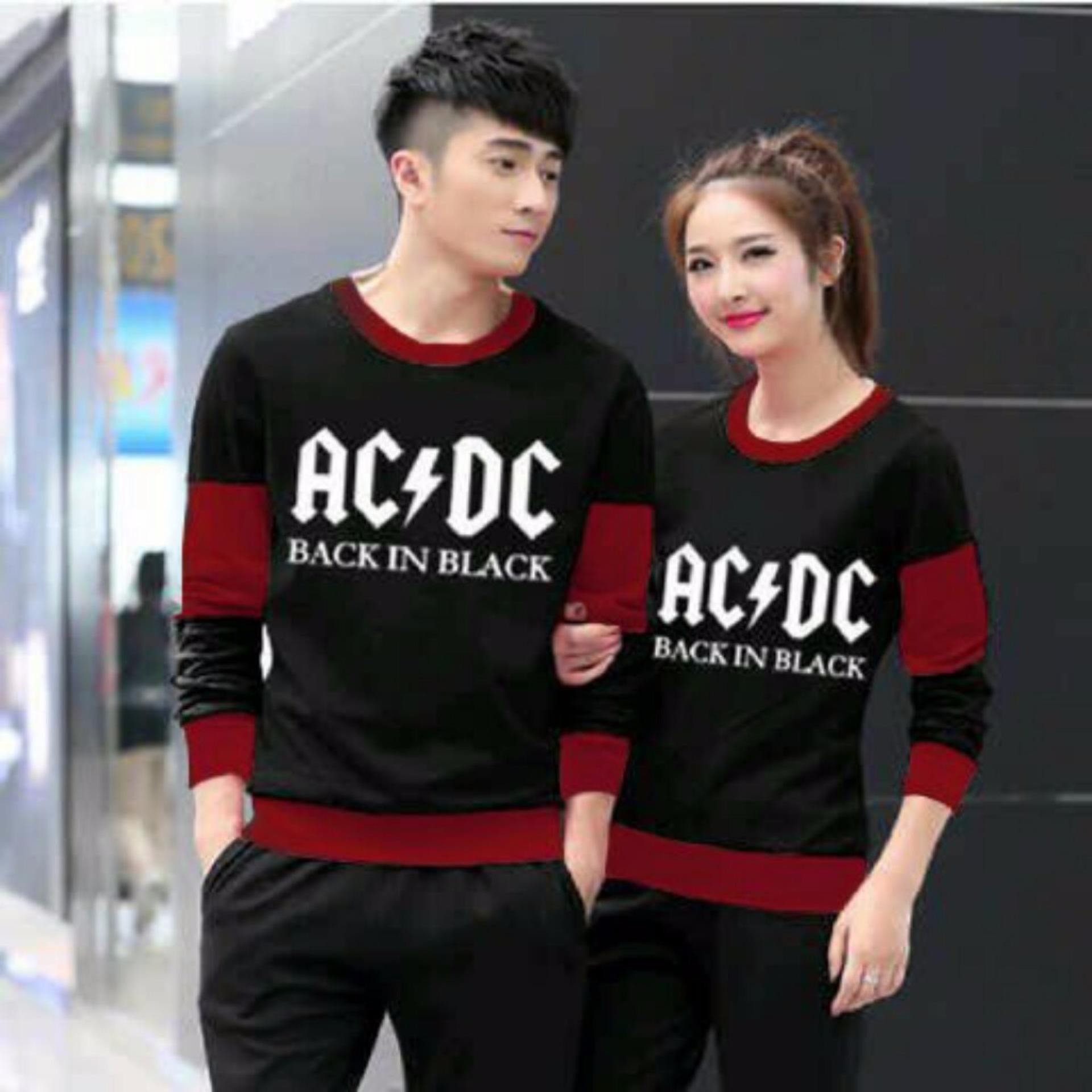Misty Maroon Dan Source Jakarta Couple Sweater Pasangan ACDC Hitam Maroon Lazada .