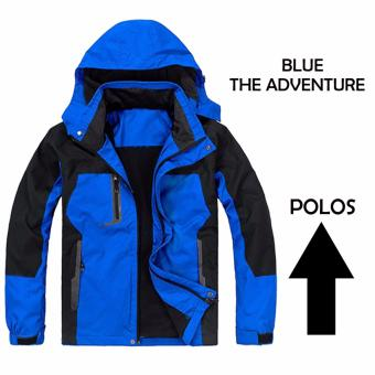 JAKET GUNUNG JAKET PARASUT JAKET THE ADVENTURE BLUE POLOS