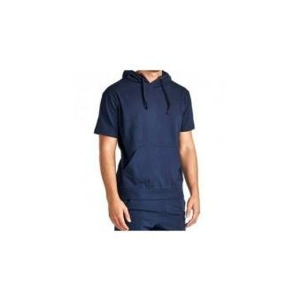 Gambar Jaket Hoodie Lengan Pendek Short Sleeve Hoodie Navy