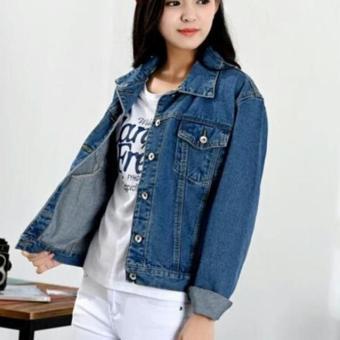 Jaket Jeans Denim Wanita Best Seller - Blue Wash