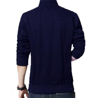 Harga Jaket Kulit Blazer Pria Trend Casual Design Biru Dongker Terbaru klik  gambar. 974b281f16