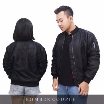Jaket Murah Bomber Couple Black