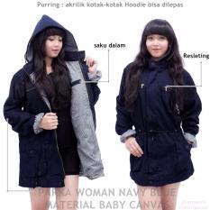 Jaket parka wanita ( biru navy )