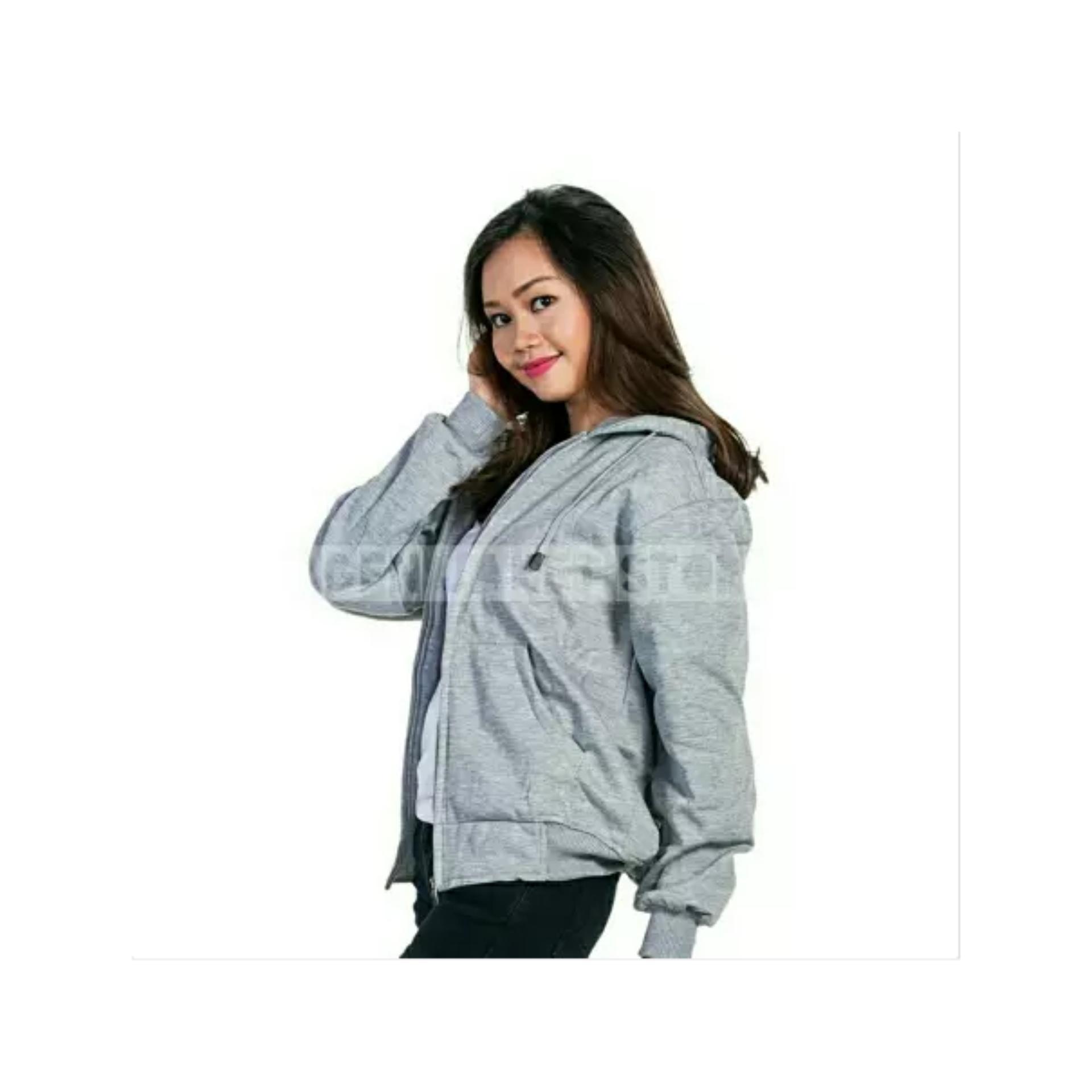 Terbaik Murah Jaket Sweater Polos Hoodie Zipper Abu Misty Hot Deals Biru Dongker Navy