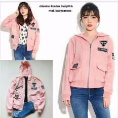 jaket wanita attention Bomber Dusty Pink