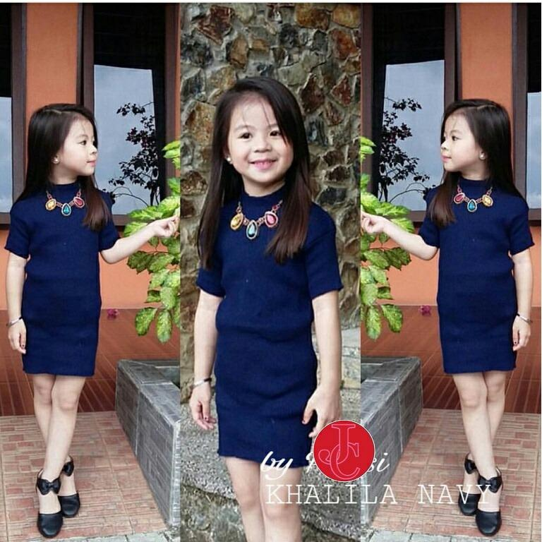 J&C Khalila Kid Dress / Baju Rajut Anak / Dress Rajut Anak / Dress Anak / Mini Dress Anak / Midi Dress Anak