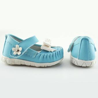 Javana Sepatu Anak Bayi Perempuan Pita Cantik JVNPITA - Biru - 3