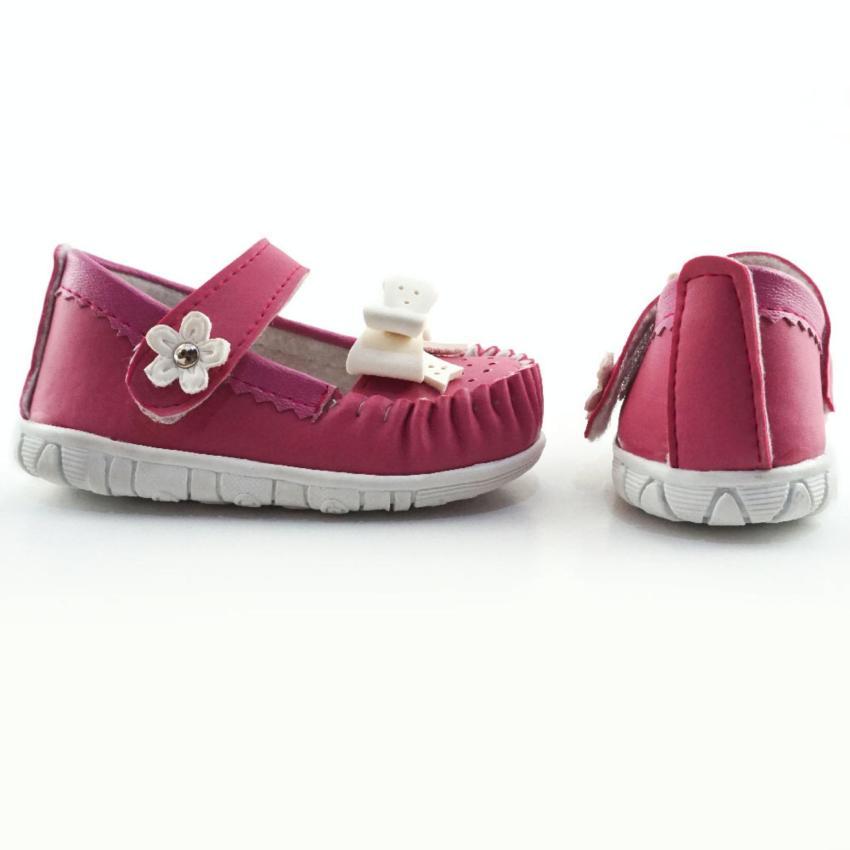 Javana Sepatu Anak Bayi Perempuan Pita Cantik JVNPITA - Fuchsia .