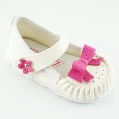 Javana Sepatu Anak Bayi Perempuan Pita Cantik JVNPITA - Putih Fuchsia