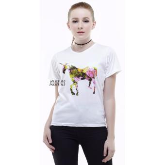Lengan Panjang Wanita Diamond Source JCLOTHES Kaos Cewe Tumblr Tee Kaos Wanita Horse .