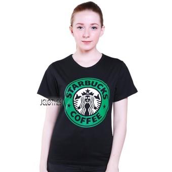 JCLOTHES Kaos Cewe / Tumblr Tee / Kaos Wanita Star Bucks - Hitam