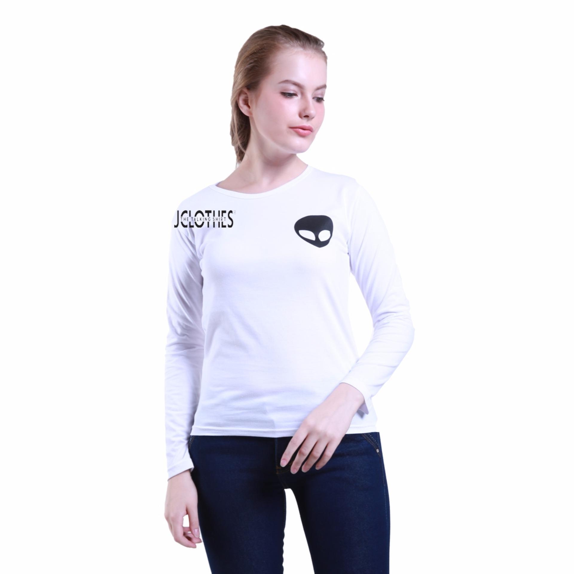 ... JCLOTHES Tumblr Tee / Kaos Cewe / Kaos Lengan Panjang Wanita Alien - Putih ...