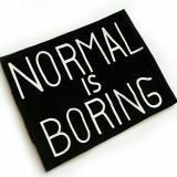 ... JCLOTHES Kaos Cewe / Tumblr Tee / Kaos Wanita Lengan Pendek Normal Is Boring - Hitam