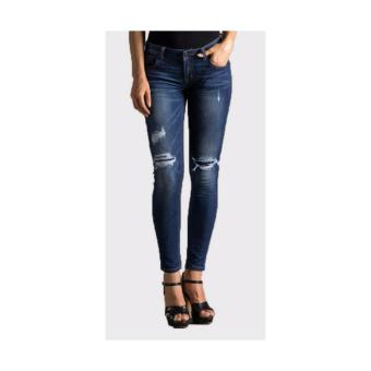"Jeanz Mind Stretch Skinny Jeans Denim ""Regina"" - Navy Biru"