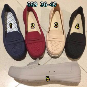 Diskon Penjualan Jelly Shoes BaraBara - Sepatu Wanita Flat Shoes Barabara 689[Hitam] Hot