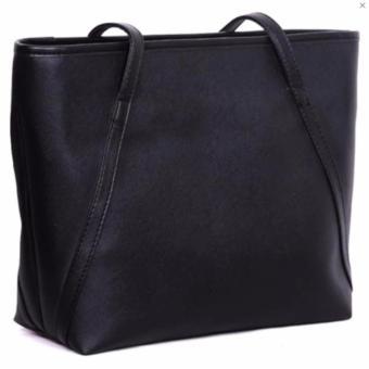 Jesslyn Simple Tote Bag / Tas Bahu / Tas Fashion Wanita - Black .