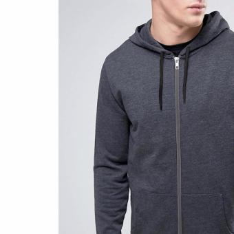 Detail Gambar Jfashion Men's Hoodie Jacket With Zipper - Novan Abu tua dan Variasi Modelnya